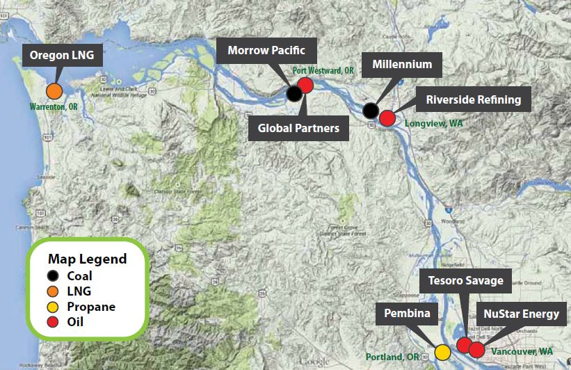 numerous fossil fuel projects proposed across the columbia