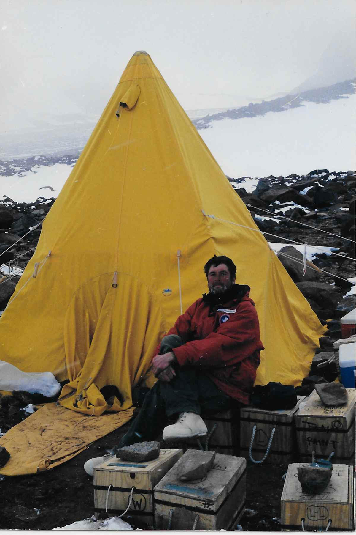 Brett on a field expedition conducting research on climate change in Antarctica, circa 2000.