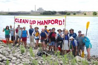 Columbia Riverkeeper Paddle Trip on the Hanford Reach on July 26, 2015. Riverkeeper hosts this paddle trip annually as an opportunity to educate the public about Hanford's cleanup. Photo by Sara Quinn