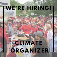 we're hiring, climate organizer