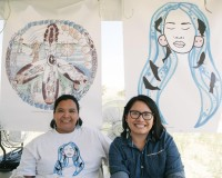"""Hanford Journey"" artist Carmen Selam with her mother, Carmen designed one of the event t-shirts."