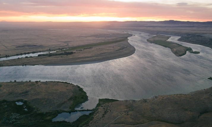 Hanford sunset river