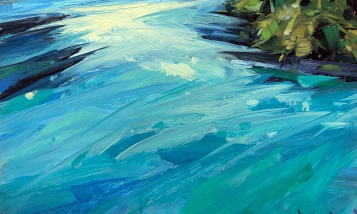 Cathleen Rehfeld rushing water art