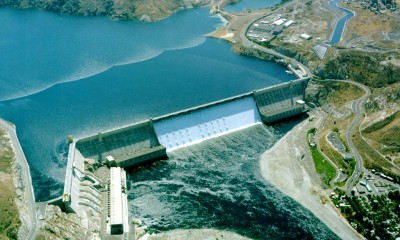 Grand Coulee Dam, photo by U.S. Bureau of Reclamation.