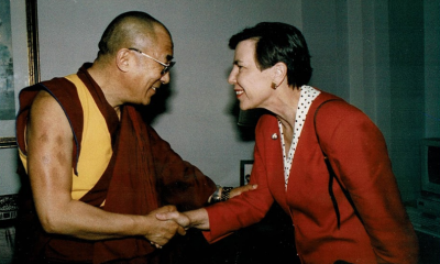 Dalai Lama and Elizabeth Furse