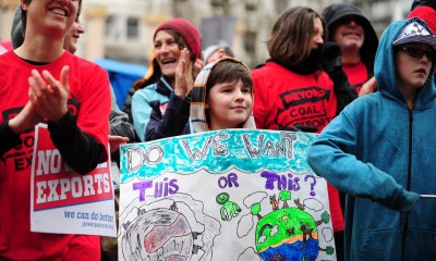 Power Past Coal Rally, photo by Alex Milan Tracy